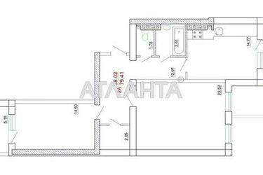 продається 2-кімнатна в Малиновському районі — 45100 у.е.