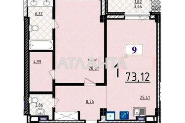 продается 1-комнатная в Приморском районе — 135000 у.е.