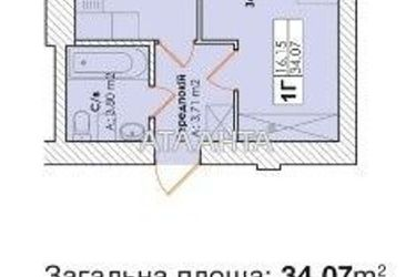 продается 1-комнатная в Гостомеле — 17800 у.е.