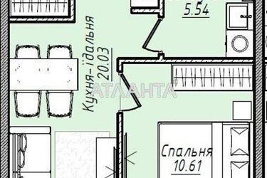 продается 1-комнатная в Малиновском районе — 31460 у.е.